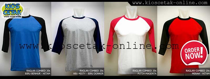 T-shirt Raglan - Kombinasi body dan lengan