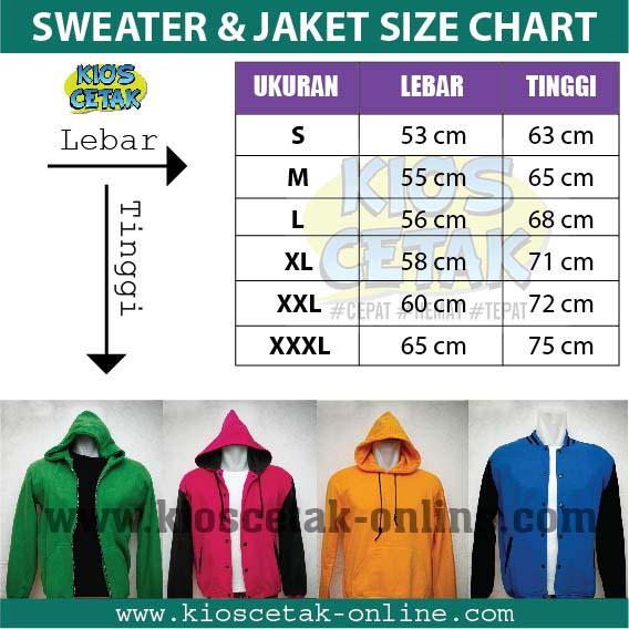 Ukuran Jaket dan Sweater