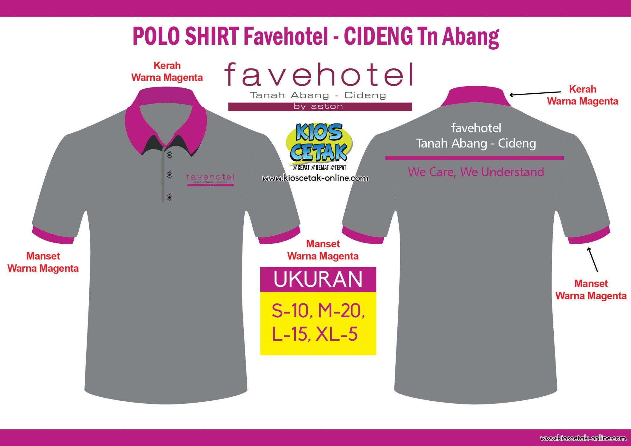 Polo Shirt Favehotel Cideng Tanah Abang Kioscetak Online Konveksi Berkualitas Terpercaya